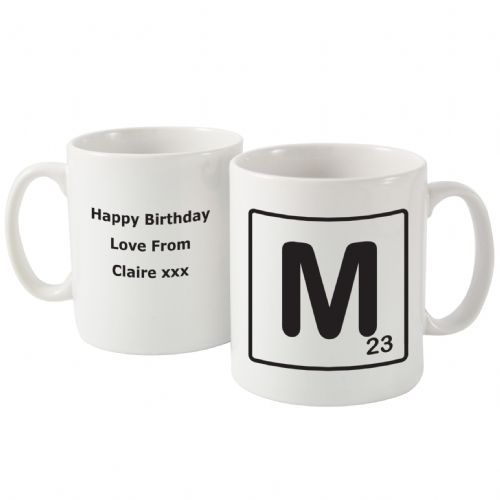 Personalised Letter and Age Slogan Mug